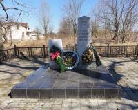 Братская могила советских воинов в Придорожном. Март 2012