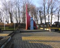 Мемориальный комплекс на братской могиле советских воинов в Приморске. Январь 2014