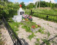 Могила советского воина на берегу Анграпы. Май 2014
