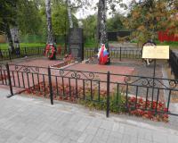 Братская могила советских воинов. Сентябрь 2014