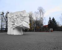 Мемориальный комплекс на братской могиле советских воинов в Гурьевске. Март 2015
