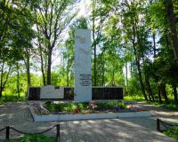 Мемориальный комплекс на братской могиле советских воинов. Петрово, май 2015