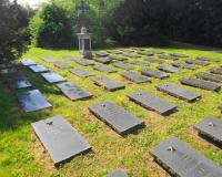 Военное интернациональное кладбище, могилы воинов Красной Армии. Старгард-Щециньски, 6 мая 2016 года