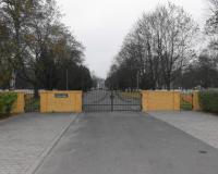 Военное интернациональное кладбище, главный вход. Гожув Велькопольски, ноябрь 2014