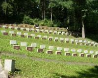 Кладбище советских воинов и сотрудников НКВД на Антакальнисском кладбище г. Вильнюса, Литва. Июль 2017