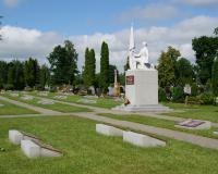 Кладбище советских воинов в городе Мариямполе, ул. Армино, Литва. Июль 2017