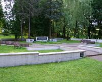 Кладбище советских воинов в поселке Смалининкай, Литва. Июль 2017