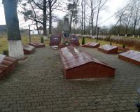Братская могила советских воинов. Победино, декабрь 2017