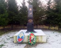 Братская могила советских воинов. Высокое, декабрь 2017