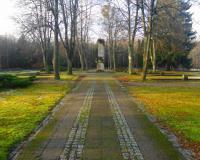 Военное советское кладбище. Гижицко, декабрь 2017