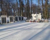 Мемориальный комплекс на братской могиле советских воинов. Низовье, январь 2018
