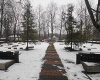 Кладбище советских воинов. Гаргждай, март 2018
