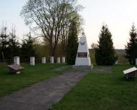Кладбище советских воинов в поселке Видукле, Литва. Апрель 2018