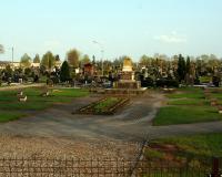 Кладбище советских воинов в городе Таураге, Литва. Апрель 2018
