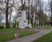 Кладбище советских воинов в городе Скаудвиле, Литва. Апрель 2018