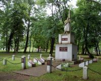 Кладбище советских воинов в поселке Раудоне, Литва. Июль 2018
