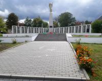 Братская могила советских воинов. Долгоруково, центр, сентябрь 2018