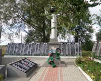 Братская могила советских воинов. Корнево, напротив воинской части, сентябрь 2018