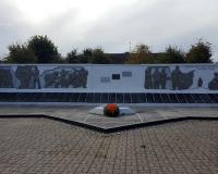 Мемориальный комплекс на братской могиле советских воинов. Озерск, сентябрь 2018