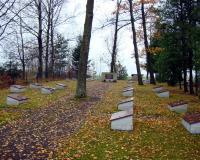 Кладбище советских воинов в поселке Гижай, Литва. Ноябрь 2018