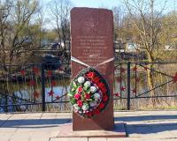 Братская могила советских воинов у моста через Анграппу. Черняховск, апрель 2019