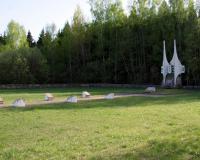 Кладбище советских воинов в городе Кайшядорис, Литва. Апрель 2019