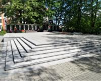 Мемориальный комплекс на братской могиле советских воинов. Пионерский, май 2019